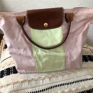 Long champ multi colored purse